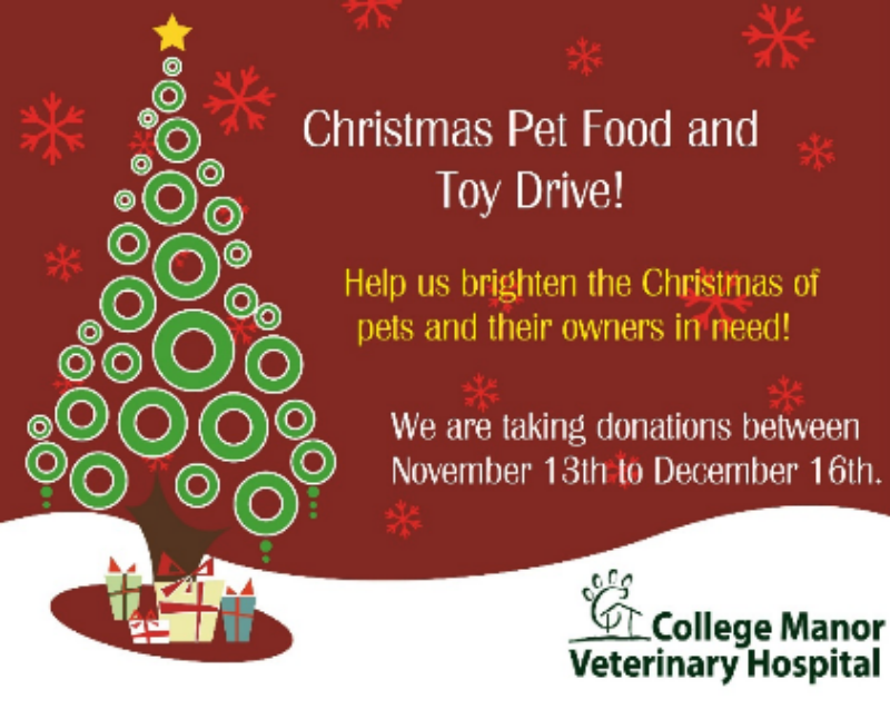 Christmas Pet Food and Toy Drive