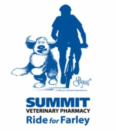 Logo for summit veterinary pharmacy ride for farley